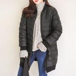 Seoul Fashion - Zip-Up Padded Coat