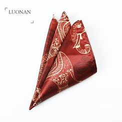 Luonan - Elephant Print Pocket Square