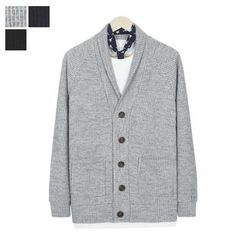 DANGOON - Shawl-Collar Button-Down Cardigan