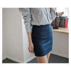 demavie - Zip-Side Mini Skirt