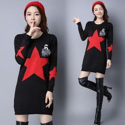 lilygirl - Star Long Knit Top