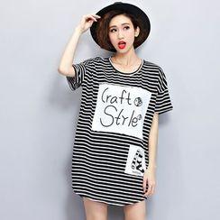 Lina Love - Applique Striped Tunic