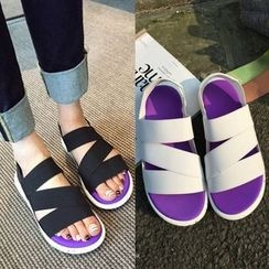Pangmama - Faux-Leather Platform Sandals