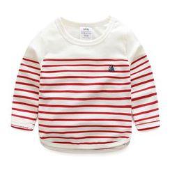 貝殼童裝 - 小童條紋長袖上衣