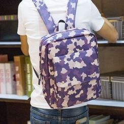 Yiku - Camo Print Backpack