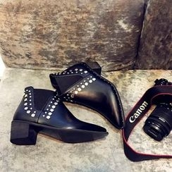 Zandy Shoes - Studded Ankle Boots