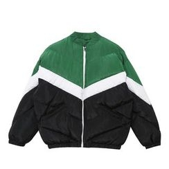 Mr. Cai - Color-Block Padded Zip Jacket