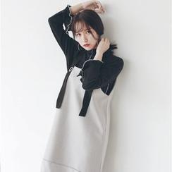 Hanme - Shift Suspender Wool Dress