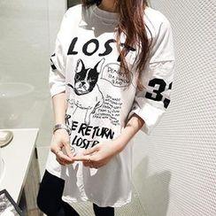 NANING9 - Doggy Print T-Shirt
