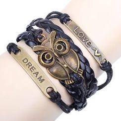 KINNO - Owl Layered Woven Bracelet