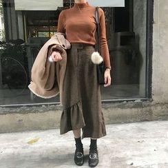 Dute - Asymmetrical A-Line Midi Skirt