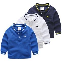 Seashells Kids - Kids Stand-collar Long-Sleeve Top