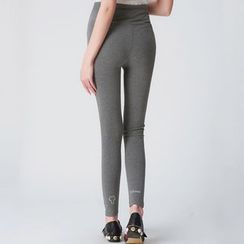 Oulimom - Maternity Printed Leggings