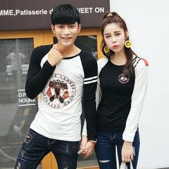 Igsoo - Couple Matching Long-Sleeve T-Shirt