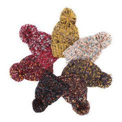 BOOMSTYLE - Pom-Pom Knit Hat