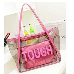 LineShow - Lettering Jelly Tote with Pouch