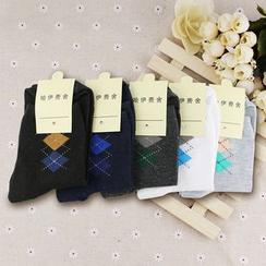 MUMBLE - Argyle Low Socks