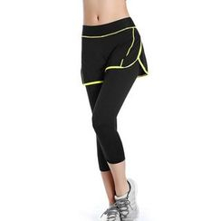 PUDDIN - Leggings Inset Sport Shorts