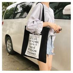 Eastin - Lettering Panel Shopper Bag