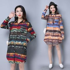 Salisha - Patterned Long Shirt