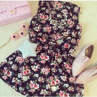 QZ Lady - Sleeveless Floral A-Line Dress