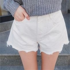 ERANZI - Fray-Hem Relaxed Shorts