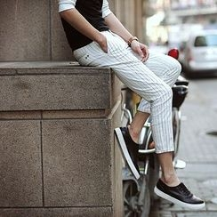 Croni - 細條紋修身褲