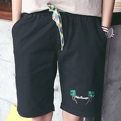 JUN.LEE - Embroidered Shorts