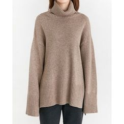 Someday, if - Turtle-Neck Wool Blend Sweater