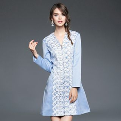Ozipan - Lace Front Zip Coatdress