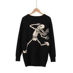 Momewear - Skull Print Sweater