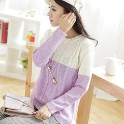 Hanee - Color-Block Argyle Sweater