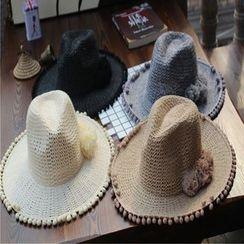 Hats 'n' Tales - Fray Knit Fedora Hat