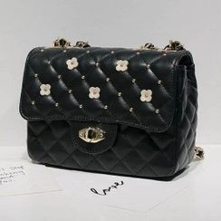 Axixi - Applique Quilted Flap Cross Bag