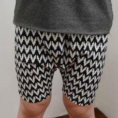 柠檬嘟嘟 - 小童锯齿纹图案短裤