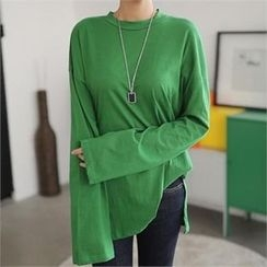 CHICFOX - Long-Sleeve Loose-Fit T-Shirt