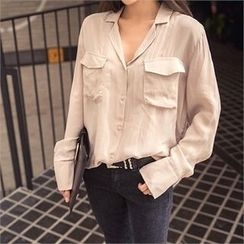 ERANZI - Flap-Pocket Blouse
