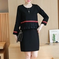 Ekim - Long-Sleeve Mock Two Piece Dress