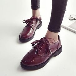 SouthBay Shoes - Tassel Patent Oxfords