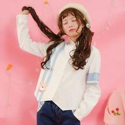 Moriville - 小熊印花衬衫