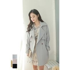 MyFiona - Open-Front Trench Coat with Sash