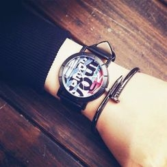 Tacka Watches - Lettering Strap Watch