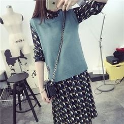 Qimi - 纯色针织背心