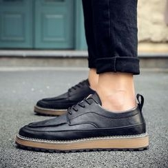 Preppy Boys - Lace-Up Stitched Sneakers