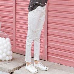 Duterena - 做旧修身牛仔裤