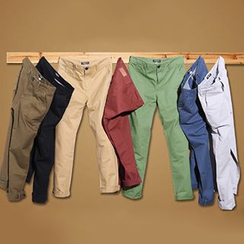 Consto - Plain Straight Fit Pants