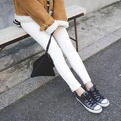 mimi&didi - Slit-Hem Corduroy Skinny Pants