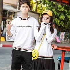 Evolu Fashion - Couple Matching Letter Pullover