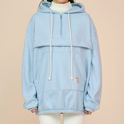 icecream12 - Hooded Brushed-Fleece Anorak Pullover