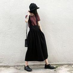 VeryBerry - Suspender Maxi Skirt